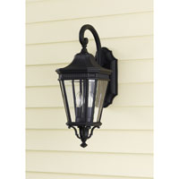 Feiss Cotswold Lane 2 Light Outdoor Wall Sconce in Black OL5401BK alternative photo thumbnail