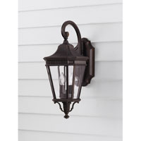 Cotswold Lane 2 Light 21 inch Grecian Bronze Outdoor Wall Sconce in Standard