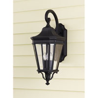 Feiss Cotswold Lane 3 Light Outdoor Wall Sconce in Black OL5402BK
