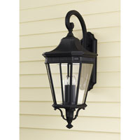 Feiss OL5404BK Cotswold Lane 3 Light 30 inch Black Outdoor Wall Sconce in Standard alternative photo thumbnail