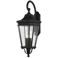 Cotswold Lane 36 inch Black Outdoor Wall Lantern in Clear Beveled Glass