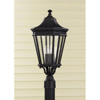 Feiss OL5407BK Cotswold Lane 3 Light 23 inch Black Post Lantern in Standard alternative photo thumbnail