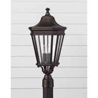 Feiss Cotswold Lane 3 Light Post Lantern in Grecian Bronze OL5407GBZ