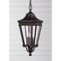 Feiss Cotswold Lane 3 Light Outdoor Hanging Lantern in Grecian Bronze OL5411GBZ