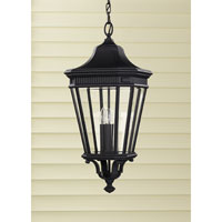 Feiss OL5412BK Cotswold Lane 3 Light 12 inch Black Outdoor Hanging Lantern in Standard alternative photo thumbnail