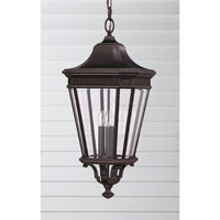 Feiss Cotswold Lane 3 Light Outdoor Hanging Lantern in Grecian Bronze OL5412GBZ