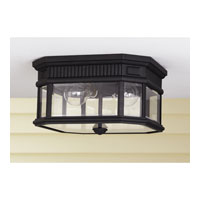 Feiss Cotswold Lane 2 Light Outdoor Flush Mount in Black OL5413BK alternative photo thumbnail