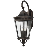 Cotswold Lane 36 inch Grecian Bronze Outdoor Wall Lantern in Clear Seedy Glass