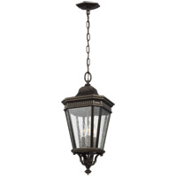 Cotswold Lane 10 inch Grecian Bronze Outdoor Hanging Lantern