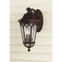 Feiss Regent Court 3 Light Outdoor Wall Sconce in Walnut OL5603WAL