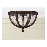 Feiss Regent Court 2 Light Outdoor Flush Mount in Walnut OL5613WAL