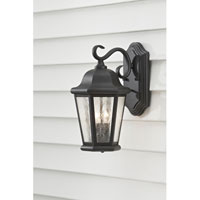 Feiss Martinsville 2 Light Outdoor Wall Sconce in Black OL5901BK