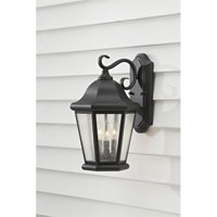 Feiss Martinsville 3 Light Outdoor Wall Sconce in Black OL5902BK