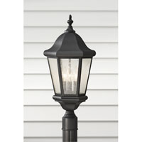 Feiss Martinsville 3 Light Post Lantern in Black OL5907BK