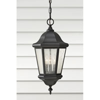 Feiss Martinsville 3 Light Outdoor Hanging Lantern in Black OL5911BK