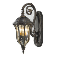 Feiss Baton Rouge 3 Light Outdoor Wall Sconce in Walnut OL6002WAL
