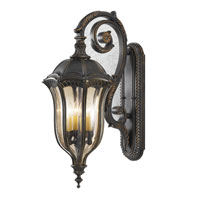 Baton Rouge 4 Light 30 inch Walnut Outdoor Wall Sconce