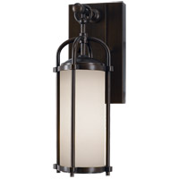 Feiss OL7600ES Dakota 1 Light 13 inch Espresso Outdoor Wall Sconce in Standard, Aged Oak Glass alternative photo thumbnail