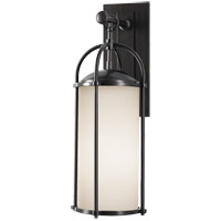 Feiss OL7601ES Dakota 1 Light 21 inch Espresso Outdoor Wall Sconce in Opal Etched Glass alternative photo thumbnail