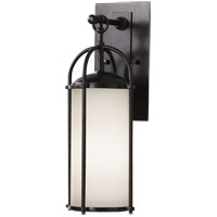 Feiss OL7604ES Dakota 1 Light 17 inch Espresso Outdoor Wall Sconce in Opal Etched Glass alternative photo thumbnail