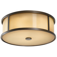 Feiss Dakota 3 Light Outdoor Flush Mount in Heritage Bronze OL7613HTBZ