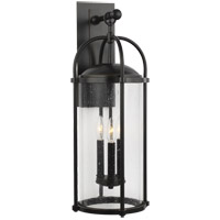 Feiss OL7623ES Dakota 25 inch Espresso Outdoor Wall Lantern in Clear Seedy Glass, Standard