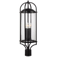 Feiss OL7627ES Dakota 28 inch Espresso Post Lantern in Clear Seedy Glass Standard