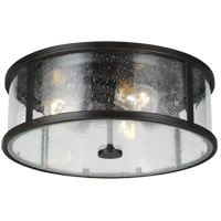 Feiss OL7633ES Dakota 14 inch Espresso Flush Mount Ceiling Light