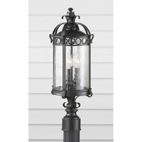 Feiss Chancellor 2 Light Post Lantern in Black Sable OL7807BSB