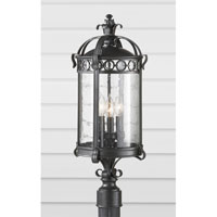 Feiss Chancellor 3 Light Post Lantern in Black Sable OL7808BSB