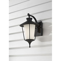 Feiss Hawkins Square 1 Light Outdoor Wall Sconce in Textured Black OL8400TXB