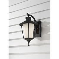 Feiss Hawkins Square 1 Light Outdoor Wall Sconce in Textured Black OL8401TXB