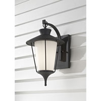 Feiss Hawkins Square 1 Light Outdoor Wall Sconce in Textured Black OL8402TXB