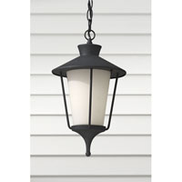 Feiss Hawkins Square 1 Light Outdoor Hanging Lantern in Textured Black OL8411TXB