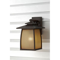 Feiss Wright House 1 Light Outdoor Wall Sconce in Sorrel Brown OL8502SBR