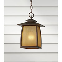 Feiss Wright House 1 Light Outdoor Hanging Lantern in Sorrel Brown OL8511SBR