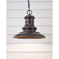 Feiss Redding Station 1 Light Outdoor Hanging Lantern in Restoration Bronze OL8904RSZ