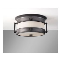 Feiss Dockyard 2 Light Outdoor Flush Mount in Oil Can OL9113OLC