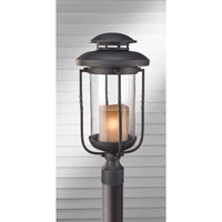 Feiss Menlo Park 1 Light Post Lantern in Textured Black OL9208TXB