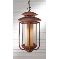 Feiss Menlo Park 1 Light Outdoor Hanging Lantern in Cinnamon OL9211CN