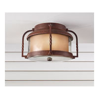 Feiss Menlo Park 2 Light Outdoor Flush Mount in Cinnamon OL9213CN alternative photo thumbnail