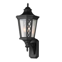 Feiss Wembley Park 3 Light Outdoor Lantern Wall Sconce in Textured Black OL9505TXB