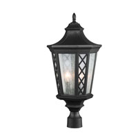 Feiss Wembley Park 3 Light Outdoor Lantern Post Mount in Textured Black OL9508TXB