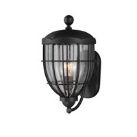 Feiss River North 1 Light Outdoor Lantern Wall Sconce in Textured Black OL9802TXB