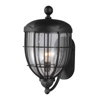 Feiss River North 1 Light Outdoor Lantern Wall Sconce in Textured Black OL9804TXB