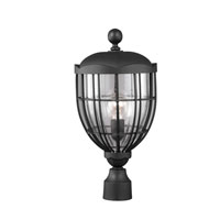 Feiss River North 1 Light Outdoor Lantern Post Mount in Textured Black OL9807TXB