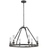 Feiss OLF3213/6AF Landen 25 inch Antique Forged Iron Outdoor Chandelier