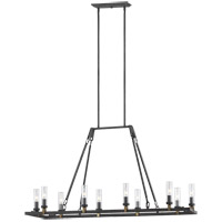 Feiss Steel Landen Chandeliers