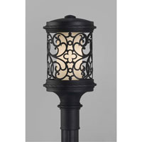 Feiss Costa Del Luz 1 Light Post Lantern in Black OLPL10107BK