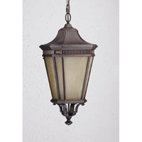 Feiss Cotswold Lane 1 Light Outdoor Hanging Lantern in Corinthian Bronze OLPL5812CB